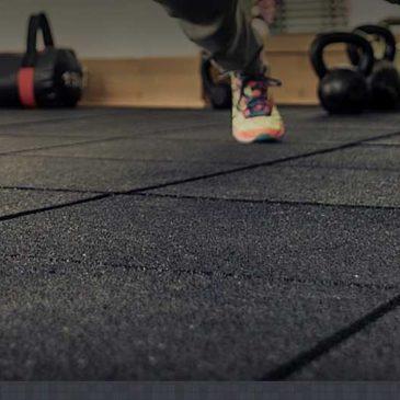 Gạch cao su trải sàn phòng gym